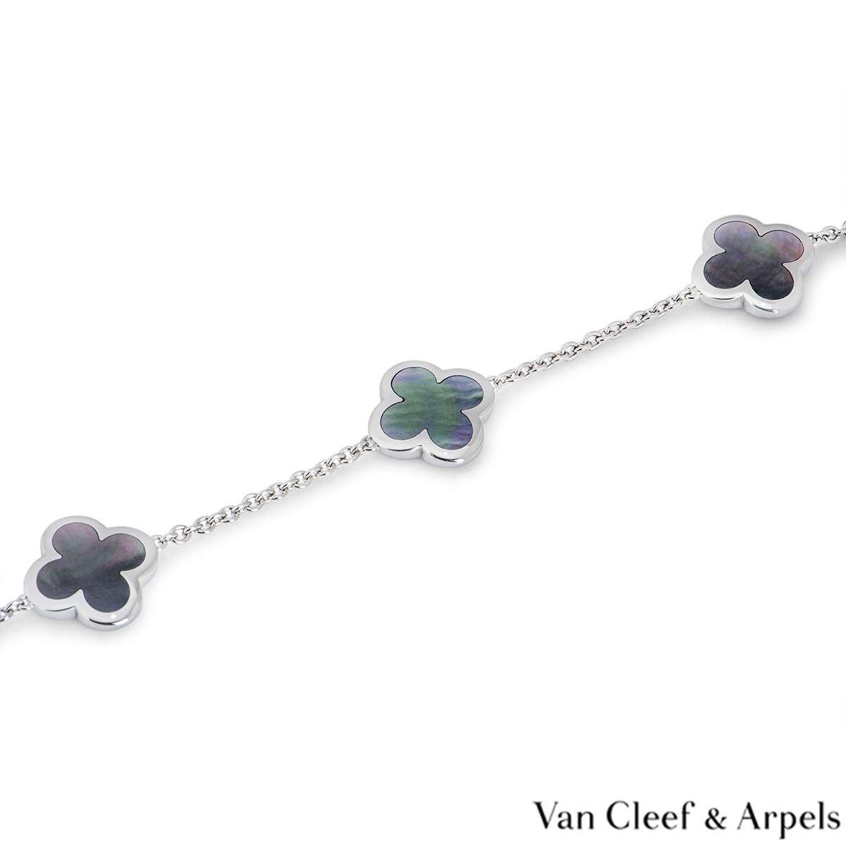 Van Cleef & Arpels White Gold Pure Alhambra Bracelet